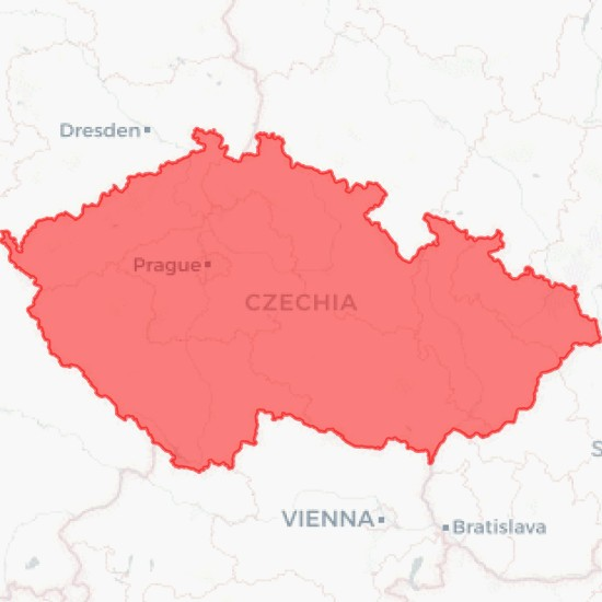 National Border in Czechia Country Download - MyGeodata Cloud