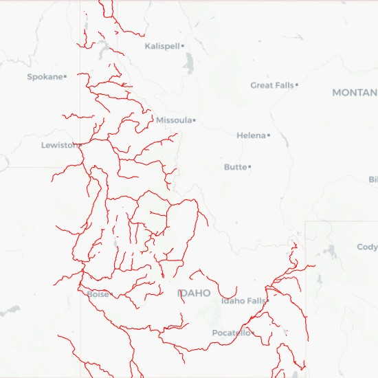 Rivers in Idaho State Download - MyGeodata Cloud