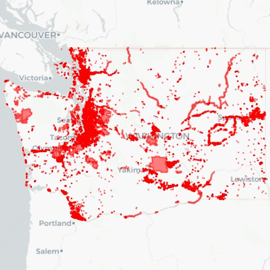 Land Use in Washington State Download - MyGeodata Cloud
