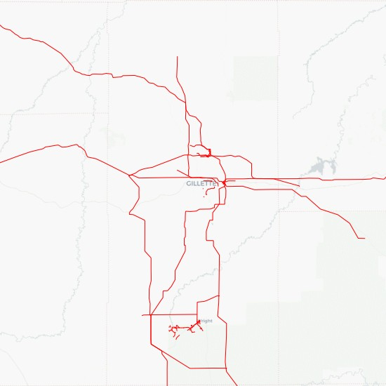 Power Line Path in Campbell County County Download - MyGeodata Cloud